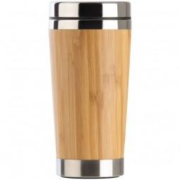 Trinkbecher mit Bambusummantelung