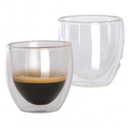 Glas Espressotasse ohne Henkel