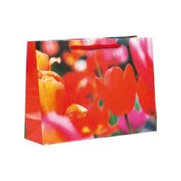 Lacktragetasche 24 x 18 + 8 cm mit Frühlingsmotiv