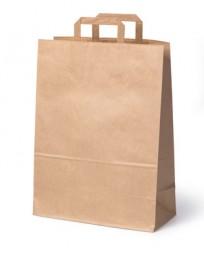 Papiertragetasche braun mit flachem Henkel