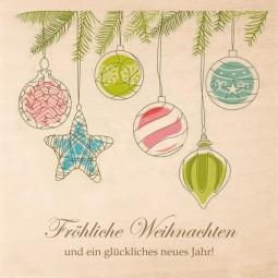 Pralinenholzbox Weihnachten