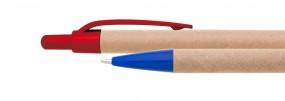 Kugelschreiber mit Recyclingapier mit Plastikclip