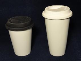 Coffee to go Becher - Porzellan - doppelwandig