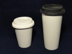 Coffee to go Becher - Porzellan - einwandig