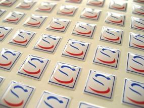 3D-Doming Aufkleber bis 2,0cm² Druckart: 4-farbiger Digitaldruck