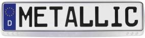 Kennzeichenhalter Metallic