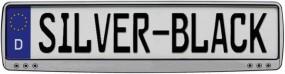 Kennzeichenhalter Silver - Black